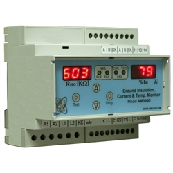 Ground Insulation Current & Temp. Monitor AM304D